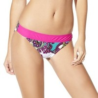 Junior's Hipster Swim Bottom -Paisley Print