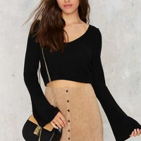 Louisa Bell Sleeve Ribbed Sweater