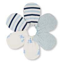 Baby Boys Puppy Family Love Solid And Striped Mittens 3-Pack | The Children's Place