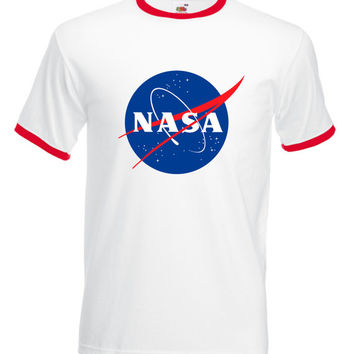 Vintage Style Nasa, Ringer T-Shirt Unisex, Nasa, Space, Astronaut, Geek, Space station