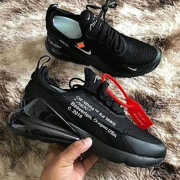 Off white x Nike Air Max 270 Fashion Sneakers Sport Shoes