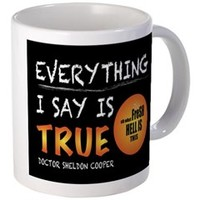 Everything I Say Is True Mugs> Everything I Say Is True> Sheldon To Mr Darcy Art by Alice Flynn