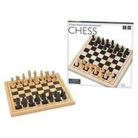 Hand Crafted Solid Wood Chess Board Game : Target