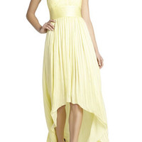 Green BCBG Alicia Silk Charmeuse Sash Gown