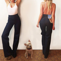 """Unworn Vintage 70s GWG Bellbottoms Dead Stock 1970s Levi's Size 25 - 26 Rare Tall Bell Bottoms 