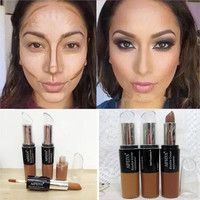 Maquiagem Bronzer 3D Makeup Highlight Contour Cream Stick Natural Color Long Lasting Contouring Foundation Face Concealer Pen