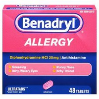 Benadryl® Allergy Relief 25 mg Tablets - Diphenhydramine HCL - 48ct