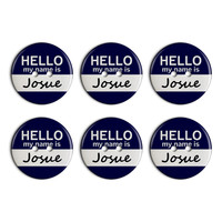 Josue Hello My Name Is Plastic Resin Button Set of 6