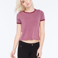 H.I.P. Marled Womens Ringer Tee | Essentials