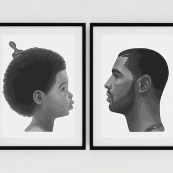 DRAKE - Nothing Was the Same - Minimalist Poster Art Set