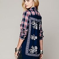 Free People  Behind The Flannel Buttondown at Free People Clothing Boutique