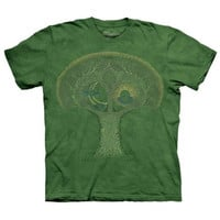 CELTIC ROOTS The Mountain Irish Moon Sun Knot Tree Green T-Shirt S-3XL NEW