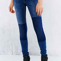 Just Female Used Patch Skinny-Fit Jean- Blue