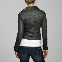Miss Sixty Women's Faux Leather Studded Motorcycle | Overstock.com
