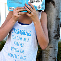 """John Green """"The Fault in our Stars"""" Quote Shirt"""
