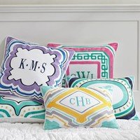 Palm Springs Monogram Pillow Cover