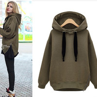 THICK FLEECE HOODED SWEATER