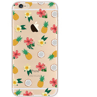 Pineapple Case TPU Cover for iphone 7 7 Plus & iphone 6 6s Plus & iphone se 5s + Gift Box