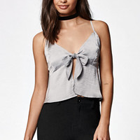 Kendall & Kylie Tie Front Peplum Tank Top at PacSun.com