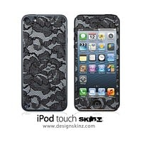 Black Lace 2 iPod Touch 4th or 5th Generation Skin