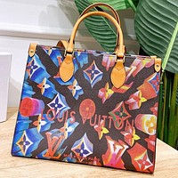 LV New fashion multicolor monogram print leather shoulder bag handbag crossbody bag