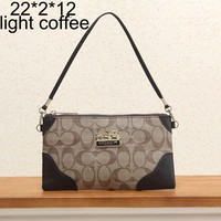 COACH 2018 new style brand fashion wild Messenger bag shoulder bag F-KSPJ-BBDL light coffee