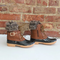 Log Cabin Snow Boots - Camel