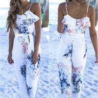 World Traveler Floral Jumpsuit