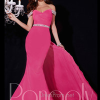 Off the Shoulder Beaded Sleeves Mermaid Prom Dress By Panoply 14707