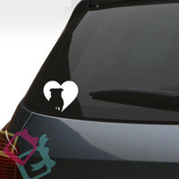 Pug Dog Heart Decal Dog Breed Custom Car Decal