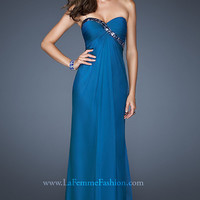 Long Strapless Dress for Prom by La Femme 18186
