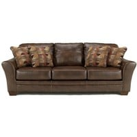 Del Rio DuraBlend - Sedona Contemporary Stationary Sofa with Flair Tapered Arms by Signature Design by Ashley Furniture at Sam's Appliance & Furniture
