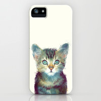 Cat // Aware iPhone & iPod Case by Amy Hamilton