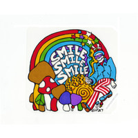 Smile Rainbow & Shrooms Bumper Sticker on Sale for $2.99 at HippieShop.com