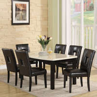 Furniture of America Clemmine 7-piece Dark Cherry Extendable Dining Set   Overstock.com Shopping - The Best Deals on Dining Sets