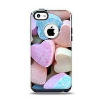 The Multicolored Candy Hearts Apple iPhone 5c Otterbox Commuter Case Skin Set