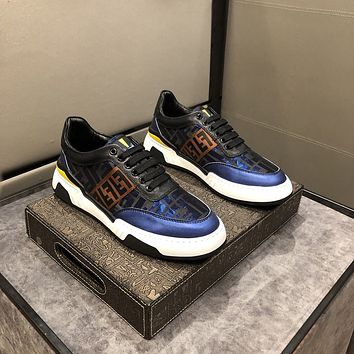 FENDI  Men Fashion Boots fashionable Casual leather Breathable Sneakers Running Shoes07180ff