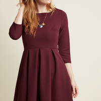Inspired Interpretation A-Line Dress in Raisin