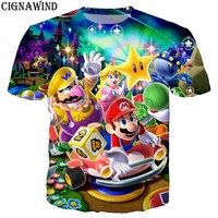 New summer top Classic games Super Mario t shirt men/women Mario Bros 3D print t-shirts casual Harajuku style tshirt streetwear