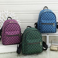 GG G Fully printed letters ladies shopping backpack school bag Daypack