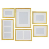 Gallery Frames, Set of 6, Gold