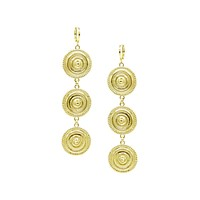 Minerva Gold Leverback Earrings