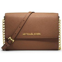 MICHAEL KORS Women Fashion Shopping Leather Shoulder Bag Satchel Crossbody H-1