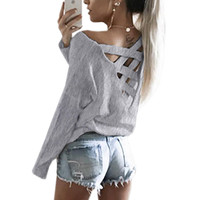 Sexy Casual Bandage T-shirt Explosion Women Bandage T-Shirts Full Sleeve Solid Fashion Casual Women O-Neck Tee Shirt Top GV485-1