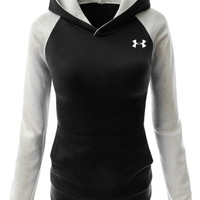 """""""Under Armour"""" Women Fashion Hooded Top Pullover Sweater Sweatshirt"""