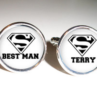 Best Man Cuff links, Groomsmen cuff links, gift for him, best man gift