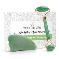 Jade Roller for Face & Gua Sha Scraping Ancient Beauty Tool