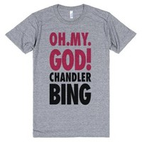 Oh My God Chandler Bing-Unisex Athletic Grey T-Shirt