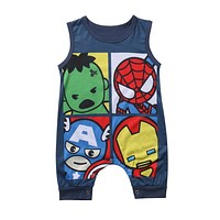 Baby Rompers Summer Baby Boys Clothing Cartoon Newborn Baby Clothes Roupas Bebe Short Sleeve Baby boy Clothes Infant Jumpsuits