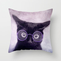 What!? (smart version) Throw Pillow by SensualPatterns